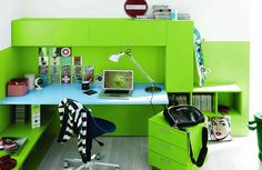Kinderkamers on pinterest met bureaus and vans - Kleur kamer ...