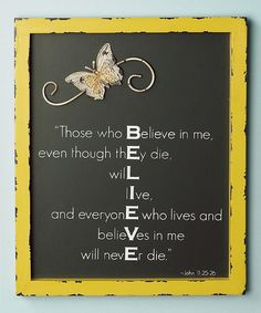 'Believe' Wall Sign