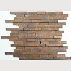 Antique copper tile backsplash from Glass Tile Oasis