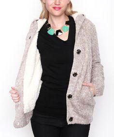 Look what I found on #zulily! Khaki Mélange Button-Up Jacket #zulilyfinds