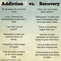 Addiction vs. Recovery. #xa