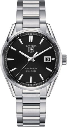TAG Heuer Watch Carrera Calibre 5 #bezel-fixed #bracelet-strap-steel #brand-tag-heuer #case-material-steel #case-width-39mm #date-yes #delivery-timescale-call-us #dial-colour-black #gender-mens #luxury #movement-automatic #official-stockist-for-tag-heuer-watches #packaging-tag-heuer-watch-packaging #subcat-carrera #supplier-model-no-war211a-ba0782 #warranty-tag-heuer-official-2-year-guarantee #water-resistant-50m