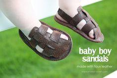 sandales bébé-garçon #tuto