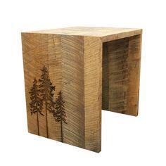 Reclaimed wood side table от ChristopherOriginal на Etsy