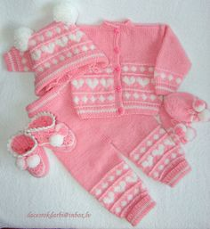 Handmade Knit Sweater Pants Hat SocksMittens Booties by Dachuks