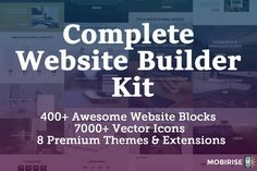 LAST CHANCE: Complete Website Builder Kit for Mobirise, 400  Blocks, 7000  Icons - only $37! - http://www.businesslegions.com/blog/2017/04/13/last-chance-complete-website-builder-kit-for-mobirise-400-blocks-7000-icons-only-37/ - #Blocks, #Builder, #Business', #CHANCE, #Complete, #Deals, #Design, #Entrepreneur, #Icons, #Kit, #LAST, #Mobirise, #Website - Learn how I made it to 100K in one months with e-commerce!