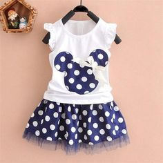 2016 new t shirt +Skirt baby kids suits 2 pcs fashion girls clothing sets minnie children clothes bow tops suit Dresses - FASHION BookFace - Leading Global Online Shopping Site Princess Dress Kids, Princess Outfits, Baby Outfits, Princess Clothes, Princess Birthday, Tutu Outfits, Princess Style, Princess Party, Mouse Outfit