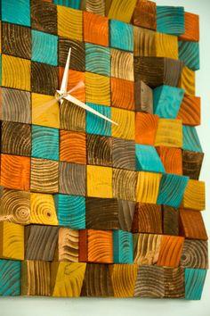 Wood wall art Clock office wall clock reclaimed by ArtGlamourSligo
