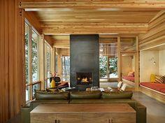 Modern Lake Cabin Surprises With Secret Room & Sleek Lines - That's Rather Lovely - Curbed Ski