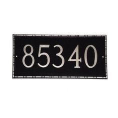 Montague Metal Products Lincoln Rectangle Address Plaque Finish: White / Gold, Mounting: Lawn