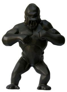 "K.Olin tribu x Richard Orlinski - ""KONG"" in black porcelain!!!"