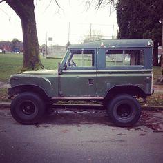 Assembled Land Rover.
