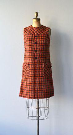 City Swift dress vintage 1960s dress houndstooth by DearGolden