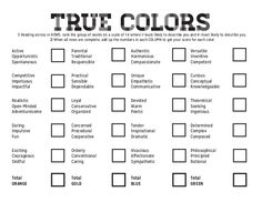 picture regarding Printable Personality Test With Results called Coloration character check out