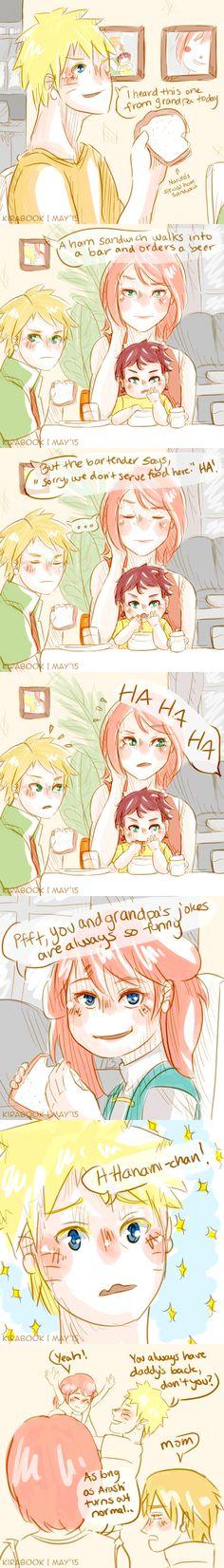 Naruto AU - Dad Jokes by Kirabook
