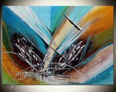 Rojo grande de arte abstracto pinturas abstractas modernas