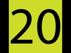Counting down from 20. Check out all the counting videos from havefunteaching.com