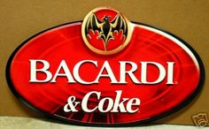 Bacardi and Coke Oval Metal Bar Sign Bacardi Rum, Metal Bar, Bar Signs, Metal Signs, Coke, Coca Cola, Appreciation, Cocktail, College