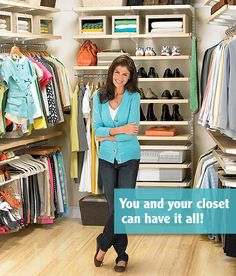 I want an Elfa closet!! so pretty! and they're on their 30% elfa sale now until February every year