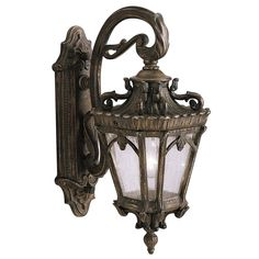 Kichler Tournai H Londonderry Candelabra Base Outdoor Wall Light at Lowe's. The Tournai™ 3 Light outdoor wall light features an ornate look with its clear seeded glass and Londonderry finish. The Tournai wall light Outdoor Wall Mounted Lighting, Outdoor Light Fixtures, Outdoor Wall Lantern, Outdoor Wall Sconce, Outdoor Walls, Outdoor Lighting, Outdoor Decor, Lighting Ideas, Londonderry