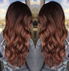 Ideas Hair Color Ideas For Brunettes Burgundy Rose Gold - Haarfarben Ideen Rose Gold Balayage Brunettes, Burgundy Balayage, Balayage Hair Rose, Burgundy Color, Hair Color Dark, Ombre Hair Color, Cool Hair Color, Hair Colors, Rose Gold Hair Brunette