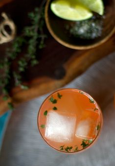 Blood Orange and Thyme Paloma Cocktail // Aida Mollenkamp