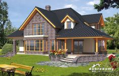 Wiktor - Dobre Domy Flak & Abramowicz Garage Apartment Plans, Garage Apartments, House Construction Plan, Modern Bungalow House, Home Fashion, Planer, Home Goods, Villa, Cabin