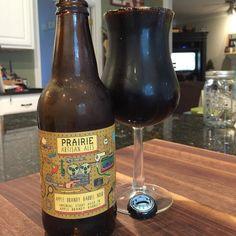 @prairieales Apple Brandy Noir!  Love this sweet boozy stout!  So smooth!  #stout #stoutwhisperer #craftbeer #beer