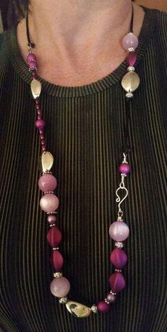 Two Tone Purple Necklace by BabaJewelryandBeads on Etsy