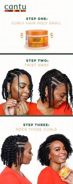 Kid Hairstyles, Black Hairstyles, Natural Hairstyles, Damp Hair Styles, Curly Hair Styles, Cantu Coconut Curling Cream, Cantu Beauty, Cantu Curls, Art Hacks