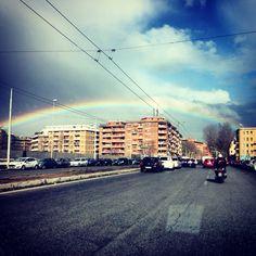 arcobaleno sulla Nomentana