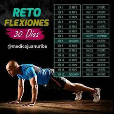 Este reto de flexiones de 30 días te hará ganar resistencia y fuerza. Champion Clothing, Men Health Tips, Military Diet, Pilates, Abs, Weight Loss, Exercise, Train, Running