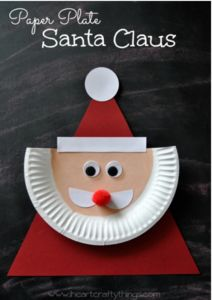 Santa Clause: Paper Plate Craft Idea - Scoilnet
