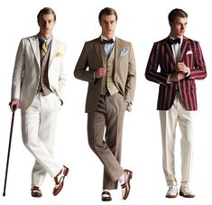 The great gatsby outfits. For the groom and the male guests. The Great Gatsby, Great Gatsby Party Outfit, Gatsby Themed Party, Gatsby Wedding, Mens Gatsby Outfit, Gatsby Dress Men, Great Gatsby Dress Code, Gatsby Outfits For Men, Great Gatsby Clothing