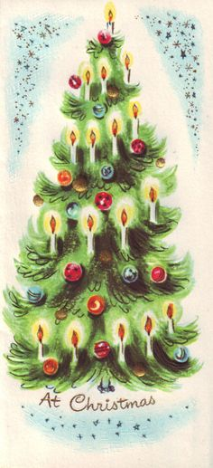 50s Christmas Cards   vintage 50s slim 'n prim christmas card, unused, featuring lovely ...