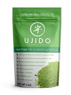 Ujido, Matcha Green Tea Powder - 4 oz - from 183 year old Japanese Tea company - Natural Energy and Focus Booster - Culinary Grade - the Ultimate Superfood - Gluten Free and Vegan ** You can get more details by clicking on the image.