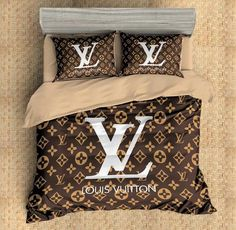 original louis vuitton lv bedding 6 teilig geeignet zum beziehen und nicht nur als deko zu. Black Bedroom Furniture Sets. Home Design Ideas