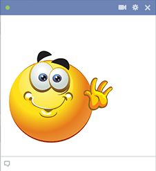 This cheerful smiley is friendly enough to use in a wide array of situations