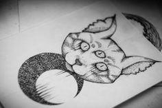 Tattoo art   cat Satan by Askaraya