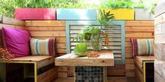Loving this renter-friendly remodel VIA A Piece of Rainbow.BeforeJust because you're renting, doesn't mean your place has to look like it.AfterThese DIYers created a warm facade for their plain balcony with upcycled shipping pallets.You see, we do love where we rent, except for the architectural sty...