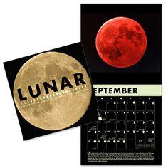 ThinkGeek :: Lunar 2015 Wall Calendar A Glow-in-the-Dark Calender