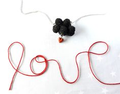 Black cloud and red heart. Crochet cloud. Love Necklace cloud by HoKiou on Etsy https://www.etsy.com/listing/177517574/black-cloud-and-red-heart-crochet-cloud
