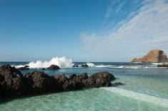 Natural swimming pools in Porto Moniz. Madeira - Portugal