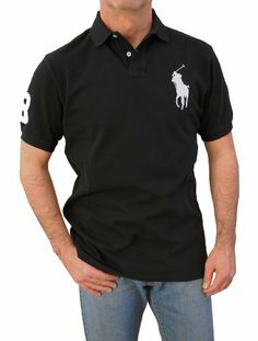 Polo Ralph Lauren Men`s Big-Tall Custom Fit Short Sleeve Big Pony Polo  Shirts (L, Black) Polo Ralph Lauren,http://www.amazon.com/dp/B00C69TRWK/ref\u003d  ...