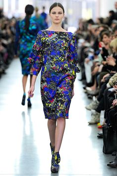 Erdem's CMYK flower print with lace detailing prove that florals and bright colors aren't just for spring.