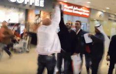 مدير أعمال شيرين يعتدي على صحفي في الكويت (صور)
