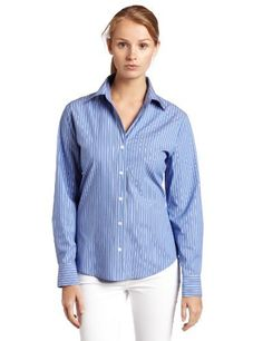 Chaus Women's Classic Stripe Long Sleeve Shirt, Blue Bell, 8 Chaus. $49.00. long sleeve. 68% Cotton/28% Polyester/4% Spandex. Machine Wash. Button Down. Made in China