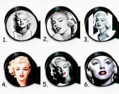 Select 1 pair Designs Marilyn Monroe ear gauges tunnel screw backs plugs #BodyJewelry