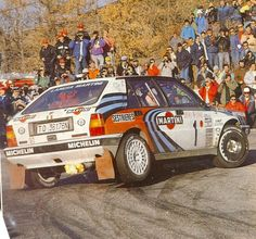 1990 MONTE CARLO RALLY - Lancia Delta HF Integrale 16V. Entrant: Martini Lancia. Drivers: Miki Biasion / Tiziano Siviero. Place: 3rd o/a.