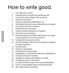 How to write good. This is the most awesomest.